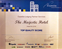 The Majestic Hotel Expedia Award for 2016