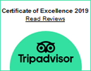 Tripadvisor - Certificate of Excellence 2019